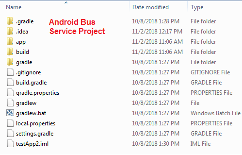 Android Bus Service Project